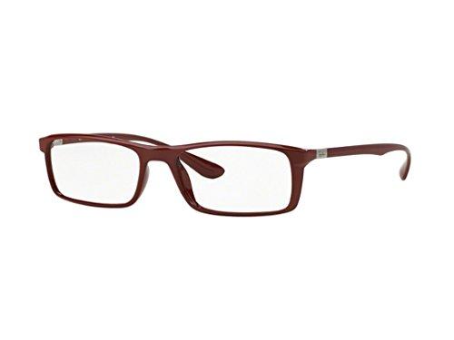 Ray Ban Optical Für Mann Rx7035 Shiny Amatanth Kunststoffgestell Brillen, 57mm
