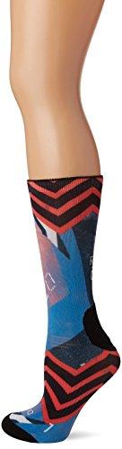 reebok Cf W Print Stripe Crew So Calcetines, Mujer, Azul (Awesom / Fircor), 5-6