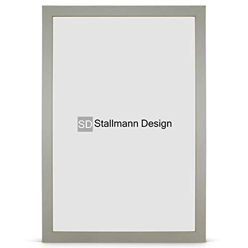 Stallmann Design Bilderrahmen New Modern 80x100 cm grau Rahmen Fuer Dina 4 und 60 andere Formate Fotorahmen Wechselrahmen aus Holz MDF mehrere Farben wählbar Frame für Foto oder Bilder (Große Foto-frame)
