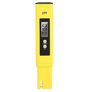 AOLVO Digital pH-Messgerät, Wasser Qualität PH Tester mit ATC, 0,02PH Hohe Genauigkeit, 0.00–14.00pH Messbereich, automatisch Kalibrierung mini Pocket Größe