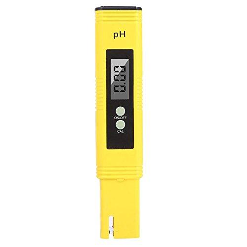 AOLVO Medidor de pH Digital, Probador de Calidad del Agua PH con ATC, 0,02PH alta precisión, 0.00–14.00pH Rango de medición, calibración automática Mini tamaño de bolsillo