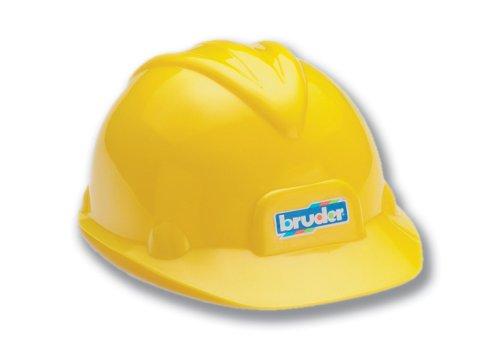 Bruder 10200 - Casco de construcción de plástico color amarillo