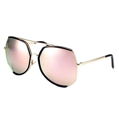 Maxi-Unique Style Brillen Flash-Spiegel-Objektiv-Sonnenbrille, Rosa