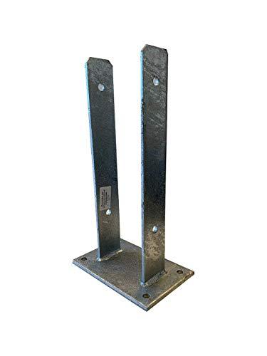 Pfostenträger zum Aufdübeln U121 x 400 x 6,0mm mit Schrauben