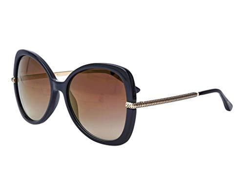 Jimmy Choo Sonnenbrillen (CRUZ-G-S 807JL) schwarz - gold - grau-braun verlaufend mit verspiegelt effekt