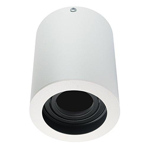LED Aufbaustrahler Aufbauleuchte / Aufputz Deckenleuchte / schwenkbar / Rund weiß / GU10-230V WF11 (Ohne Leuchtmittel)