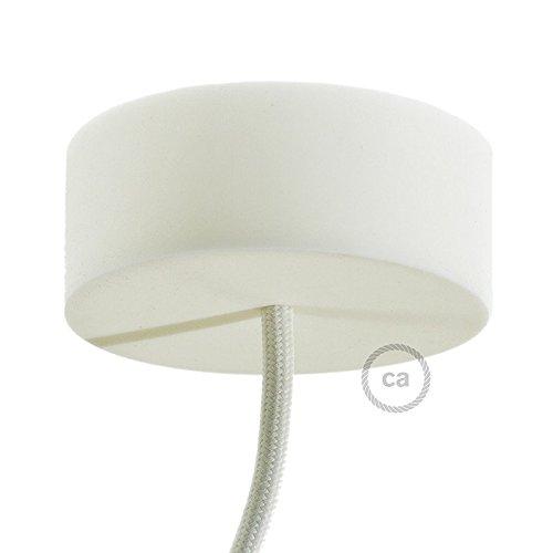 Creative-Cables Rosace en Silicone Blanc
