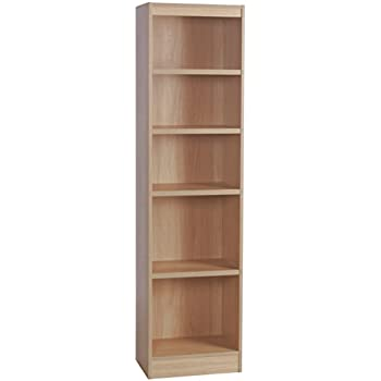 Home Office Furniture UK Tall Narrow Bookcase Bookshelf Files Cabinet,  Wood, Beech, Wood