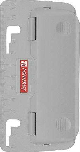 Baier & Schneider Locher (Büro) Taschenlocher Colour Code, Kunststoff, 1 mm/2 Blatt, silber
