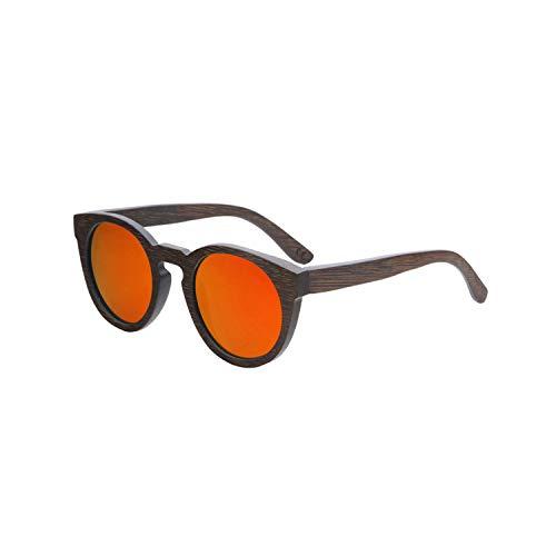 Sport-Sonnenbrillen, Vintage Sonnenbrillen, Sun Glasses For Männer And WoMänner Polarized New Fashion Wooden Sunglasses High Quality Bamboo Frame In Stock red lens