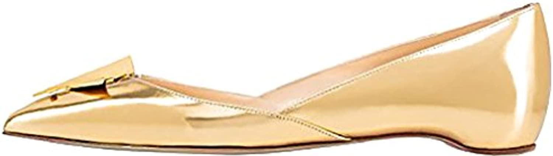 Calaier Mujer Cacinema Plataforma 0CM Sintético Ponerse Bailarinas Zapatos