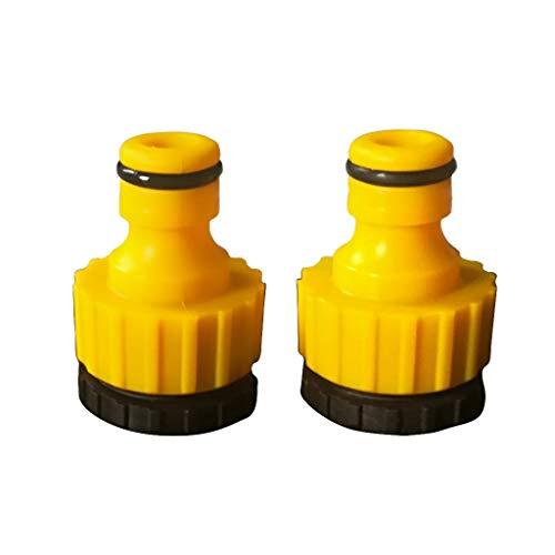 perfk 2er Set Kunststoff-Gartenschlauch Schlauchende Schnellverschluss, Anschluss, 1/2 \'\' 3/4 \'Gewinde Wasserhahn Adapter Wasserhahn-Anschluss