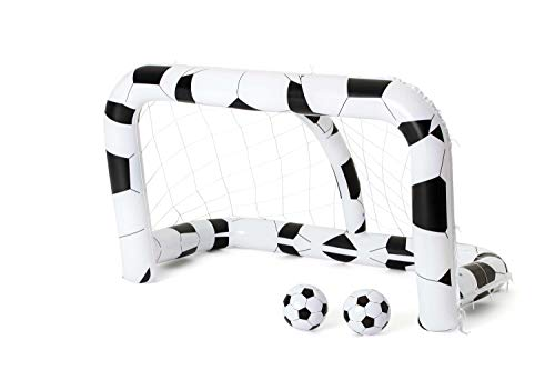 Bestway - But de football gonflable 213 x 122 x 137 cm avec 2 ballons 36 cm