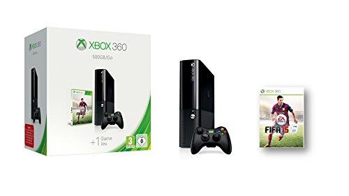 Microsoft Xbox 360 500GB + FIFA 15 500GB Wifi Negro - videoconsolas (Xbox 360, 512 MB, DDR3, IBM PowerPC, Unidad de disco duro, 500 GB)