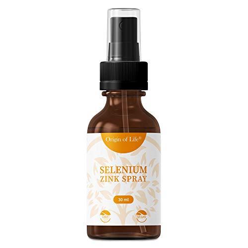 Selen + Zink Spray - hochdosiert mit 200µg Selen - Natriumselenit + 6mg Zink je Tagesportion - Beste Bioverfürgbarkeit - Ohne künstliche Zusatzstoffe + Vegan - 30 ml für 240 Sprühstöße