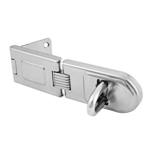 Merriway® BH01781 Heavy Duty Hardened Steel Double Hinged Hasp and Staple, 155mm (6.2 inch)