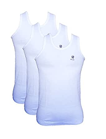 Ranjit Smart Men's Cotton Vest (Pack of 3) (RS09S_White_Small)
