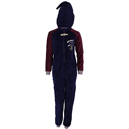 Harry Potter Quidditch Schlafanzug, Schlafoverall, Hausanzug, Einteiler, Onesie - 40-42 / UK 14-16 / EU 42-44