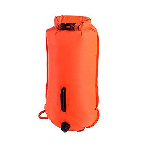 fblasbare lebensrettende Tasche Doppel-Airbag-Bojentasche Float-Aufbewahrungstasche Schwimmtasche für Schwimmer, umweltfreundliches PVC und große Kapazität ()