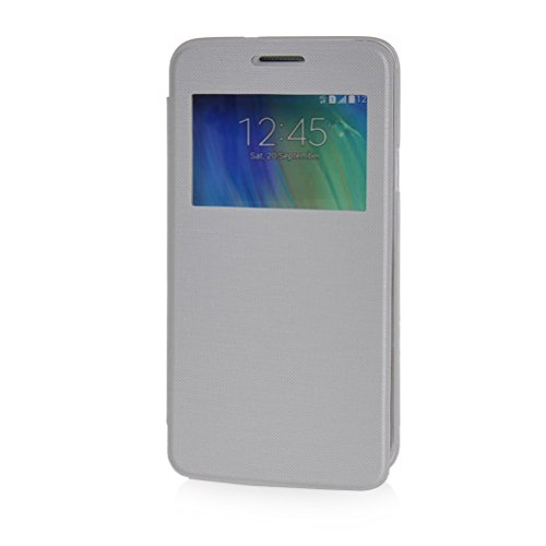 MOONCASE Coque en Cuir Housse de Protection Étui à rabat Case pour Apple iPhone 6 Plus Bleu Blanc
