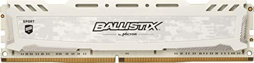 Ballistix Sport LT BLS16G4D30AESC Memoria RAM de 16GB (DDR4, 3000 MT/s, PC4-24000, CL15, Dual Rank x8, DIMM, 288-Pin) Blanco