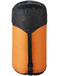 Ferrino 86290 Sac de compression pour sac de couchage, Orange, 18 x 38 cm