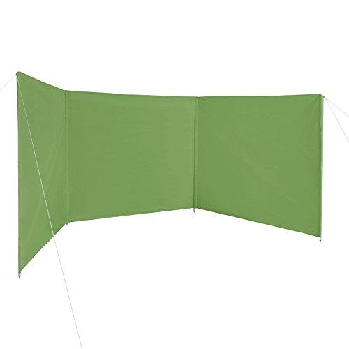 BB Sport Windschutz Sichtschutz WINDERMERE 500 x 140 cm für Strand Camping Garten inkl. Packtasche, Abspannleinen und Heringen, Farbe:Sommergrün