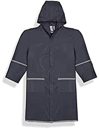 fabugears niños/niñas niños/juniors chubasquero, reflector, impermeable, longitud completa con capucha