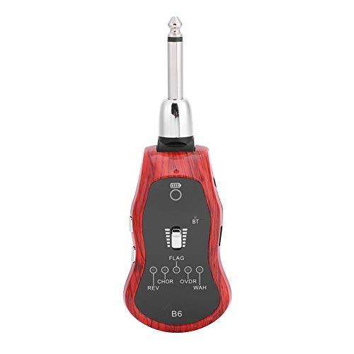 Acogedor Sistema Chitarra/Strumento Senza Fili, Chitarra elettrica Effector, Chitarra Bluetooth Effector - Ricarica USB Portatile Lungo Servizio 5 modalità Audio, 6.35MM Chitarra Synthesize Connector
