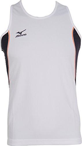 Mizuno Team 201 Mens Running Singlet - White
