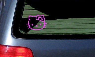 Aufkleber HELLO KITTY - Cat Feline - Car, Truck, Notebook, Vinyl Decal Sticker #1093 | Vinyl Color: Pink - Cat-vinyl Decal Sticker