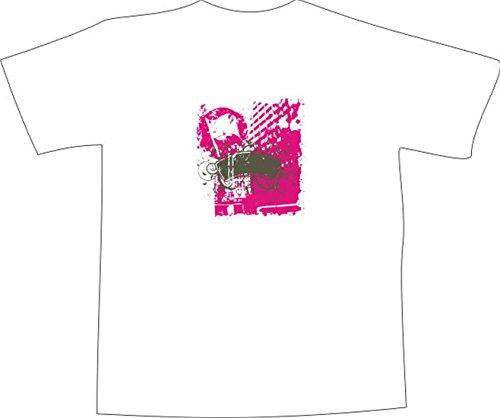 T-Shirt E420 Schönes T-Shirt mit farbigem Brustaufdruck - Logo / Grafik - abstraktes Design - Tribal mit ranken und Fahne Schwarz