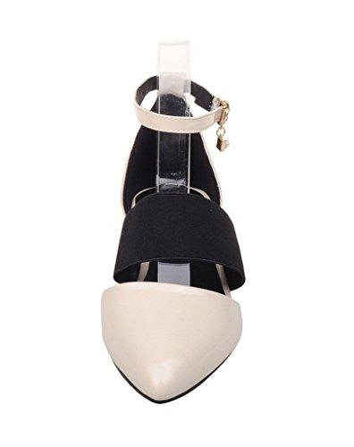 Guoar - Scarpe con cinturino alla caviglia Donna Beige (beige)