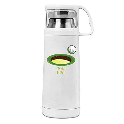 Bestqe Vakuumisolierte Trinkflasche,Wasserflasche, Fit I\'d Tap That Golf Insulated Stainless Steel Thermos Cup Portable Water Bottle with Handle Vacuum Tea Cup Travel Mug