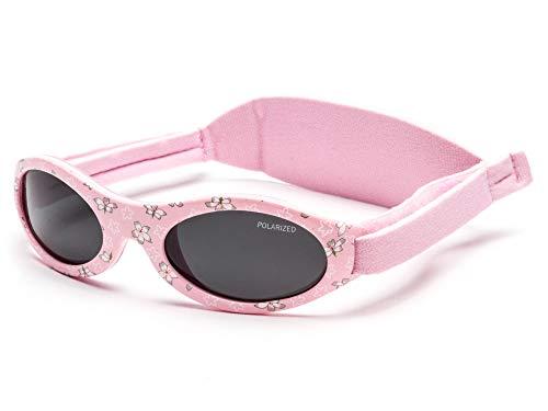 Kiddus Polarisierte PREMIUM Babysonnenbrille für JUNGEN UND MÄDCHEN im Alter von 0 Monaten bis 2 Jahren 100% UV-Schutz SUPER KOMFORTABEL mit weichem SILIKON-Nasensteg und verstellbarem WEICHEN Riemen