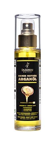 Dr. Schedu Berlin 100{3b69dd89fb03ef09a506e7e89db2b9fe6c63a926c77447b8eac12795c09d2da6} reines natives marokkanisches Arganöl, ungeröstet, erste Kaltpressung & ohne jede chemische Behandlung, für Haare, Gesicht, Haut und Nägel,100ml