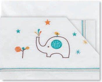 Pirulos 00212417 - Sábanas, diseño elefante, 40 x 80 cm, color blanco...
