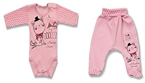 Erstausstattung Baby Set, Accessoires Neugeborene, Baby Zubehör: Body/Wickelbody, Shirt/Unterhemd, Jacke/Pullover, Strampler/Hose für Mädchen und Jungen, Größen 56-86, Model 8: By35, 80
