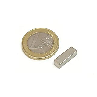 20Pieces of Neodymium Magnet Block-15mm long x 5mm Wide x 4mm thick-Force of Atraccion 1.9kg-4180Gauss
