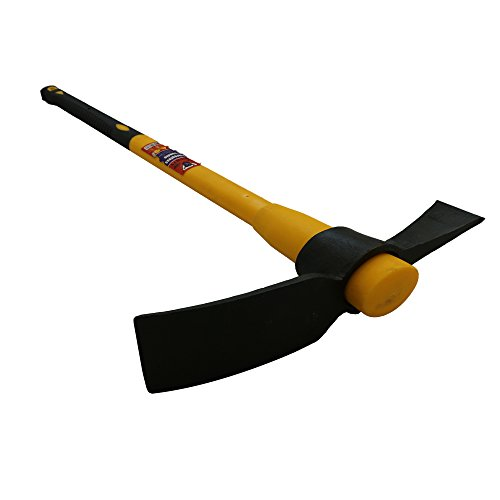 Mighty Heavy Duty 5lb Pick axe Grubbing Mattock Steel Head +Fibreglass Handle shaft 90cm 36in