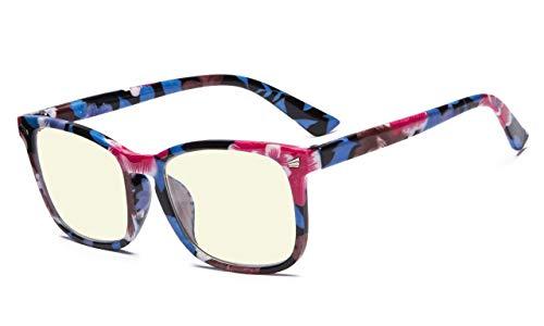 Eyekepper Stilvolles UV Schutz lesen Brille Computer Leser für Frauen (Blumen, 1.00)