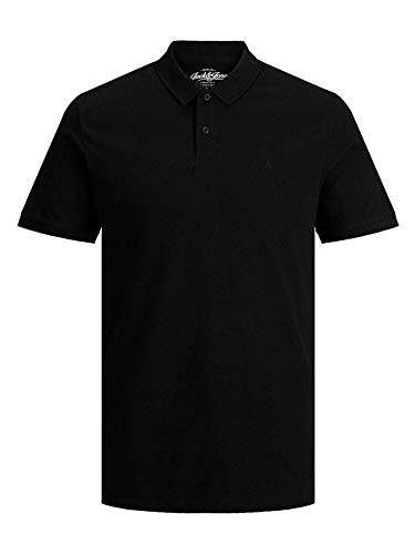 JACK & JONES Herren JJEBASIC Polo SS NOOS Poloshirt, per Pack Weiß (White Detail: Slim FIT), Large (Herstellergröße: L) (Baumwolle Shirt Herren Polo)