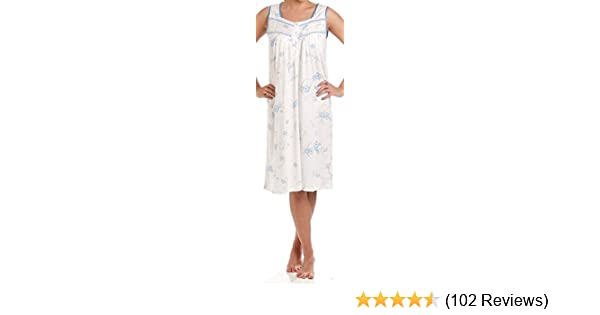 Apparel Ladies Floral Nightdress 100/% Cotton V Neck lace Strap Long Nightwear M to 3XL