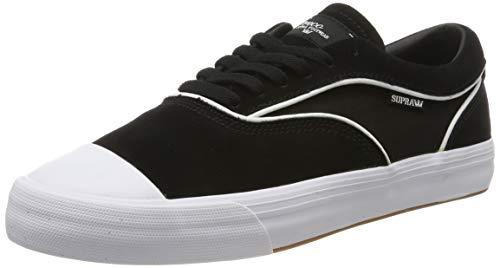 Supra Hammer Vtg, Scarpe da Skateboard Unisex - Adulto, Nero (Black-White-M 2), 44 EU
