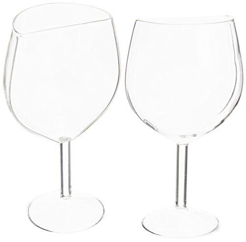 AddLiquid Hälfte Schnitt Weinglas, Glas, transparent, Set von 2
