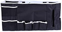 Inspired Home Living Bedside Caddy Organiser - Large 12 Pocket Bed and Couch Hanging Storage - Perfect As Remote Control, Laptop, Cell Phone, Book and Magazine Holder