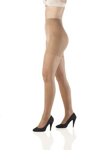 Sleex Collant modellanti vita normali - microfibra 30 DEN, trasparente effetto satin, abbronzatura naturale, taglia XL (44030