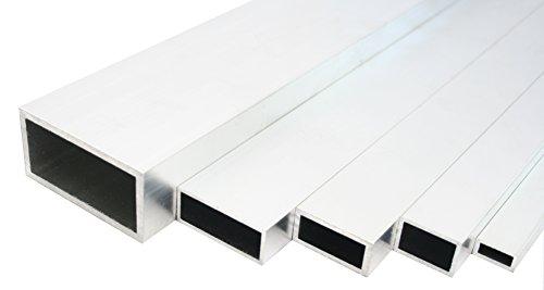 Aluminium Rechteckrohr Walzblankes Vierkantrohr 80x20x2 mm 2000mm