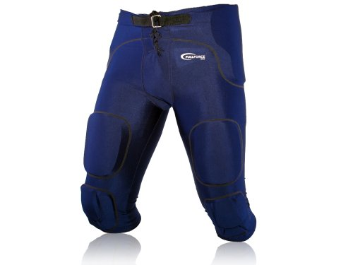 Full Force American Football Gamehose Stretch mit integrierten 7 Pocket Pad All in One - navy Gr. L