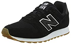 New Balance Damen 373 Sneaker, Schwarz (Black/White BTW), 37.5 EU